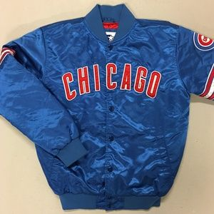 Chicago Cubs STARTER Satin Quilted Baseball Jacket